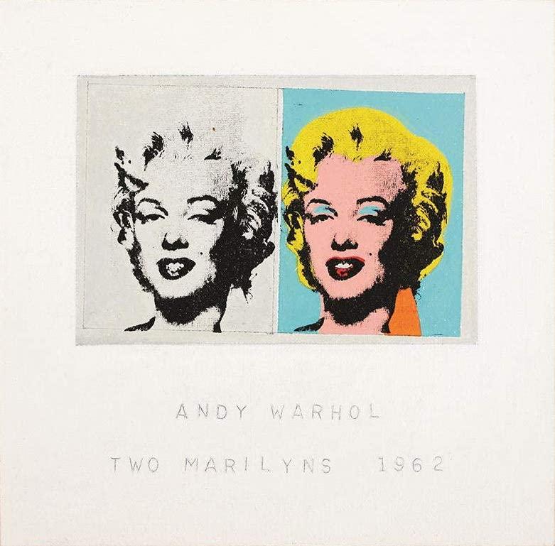 アンディ・ウォーホル TWO MARILYNS 1962 額付き